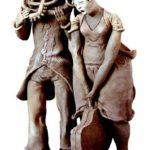 Бремя музыки 2001, глина, глазурь, соли, Н-35 см
